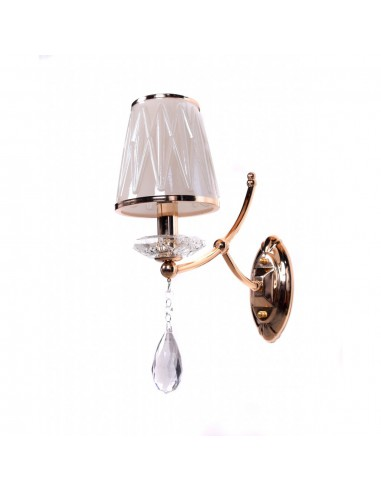 Kinkiet Dominni gold Lumina Deco - lampa do wnętrz - ilumos.pl